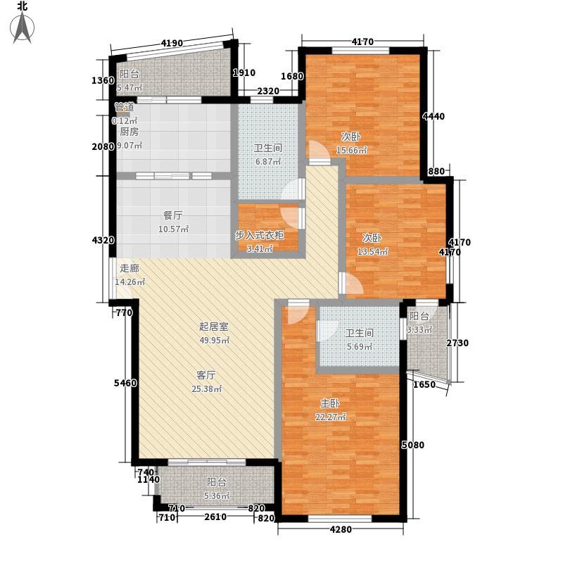 高迪晶城160.18㎡高迪晶城户型图3、7#楼-C8户型3室2厅2卫1厨户型3室2厅2卫1厨