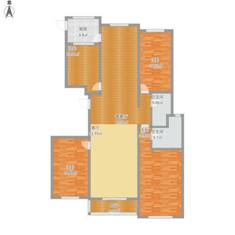 世纪嘉园4室1厅2卫1厨236.00㎡户型图