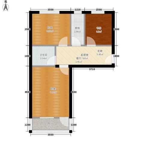 劲松一区1室0厅1卫1厨68.00㎡户型图