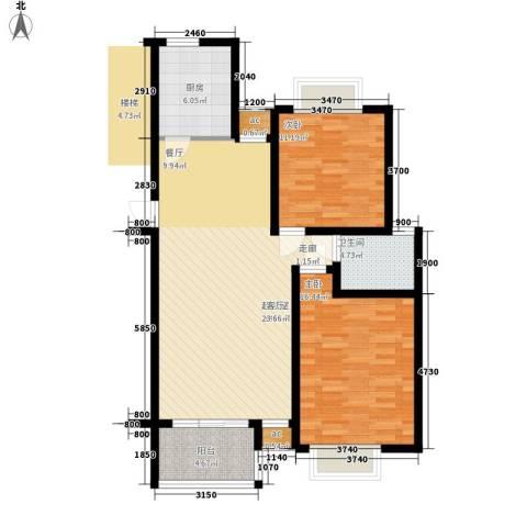 泰荣湾2室0厅1卫1厨110.00㎡户型图