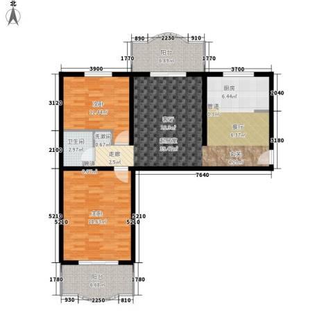 怡清园2室0厅1卫0厨97.00㎡户型图