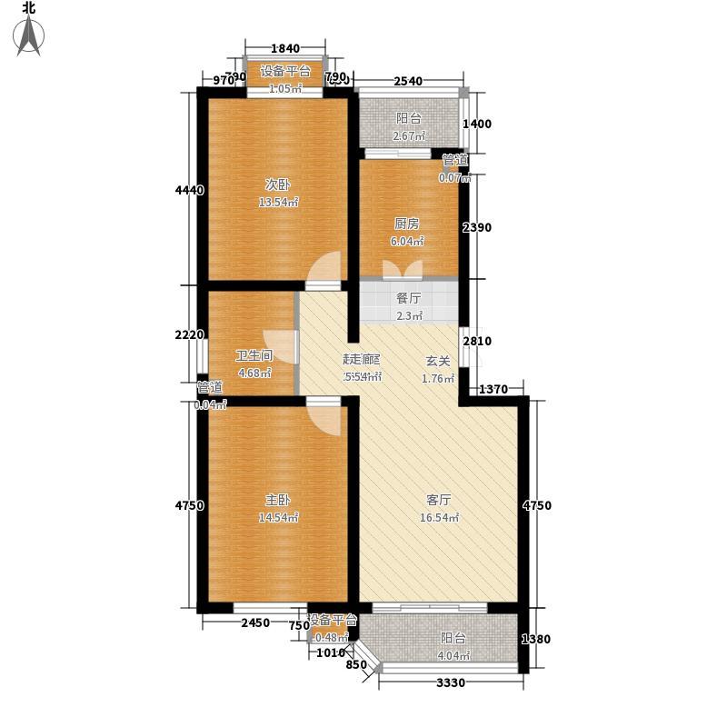 三湘花园85.00㎡三湘花园2室户型2室
