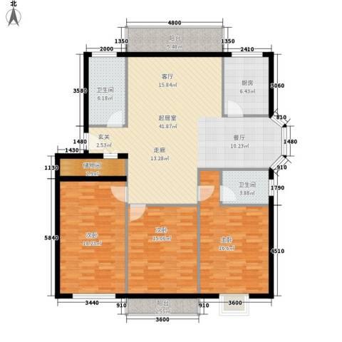 学林雅苑3室0厅2卫1厨140.00㎡户型图