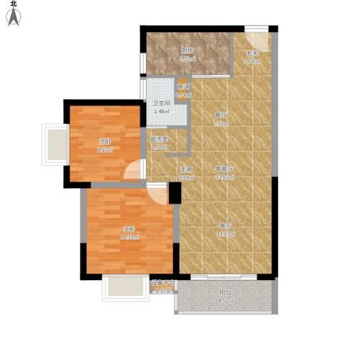兴豪门2室1厅1卫1厨93.00㎡户型图
