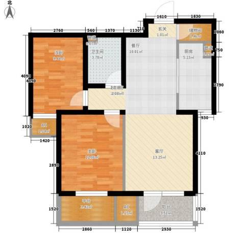 万科城市花园2室0厅1卫1厨99.00㎡户型图