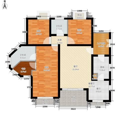 爱加丽都4室1厅2卫1厨118.00㎡户型图