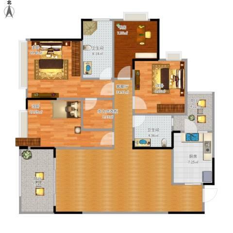 万科悦峰4室1厅2卫1厨148.00㎡户型图