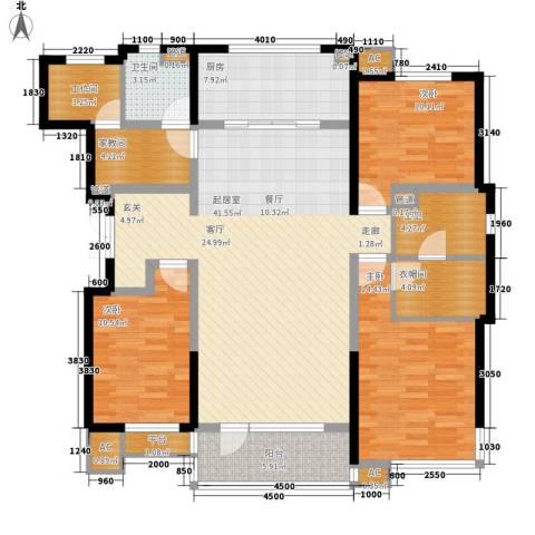 万科城市花园3室0厅1卫1厨164.00㎡户型图
