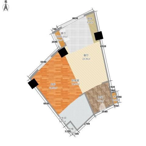 擎天半岛滨海国际公寓80.00㎡户型图