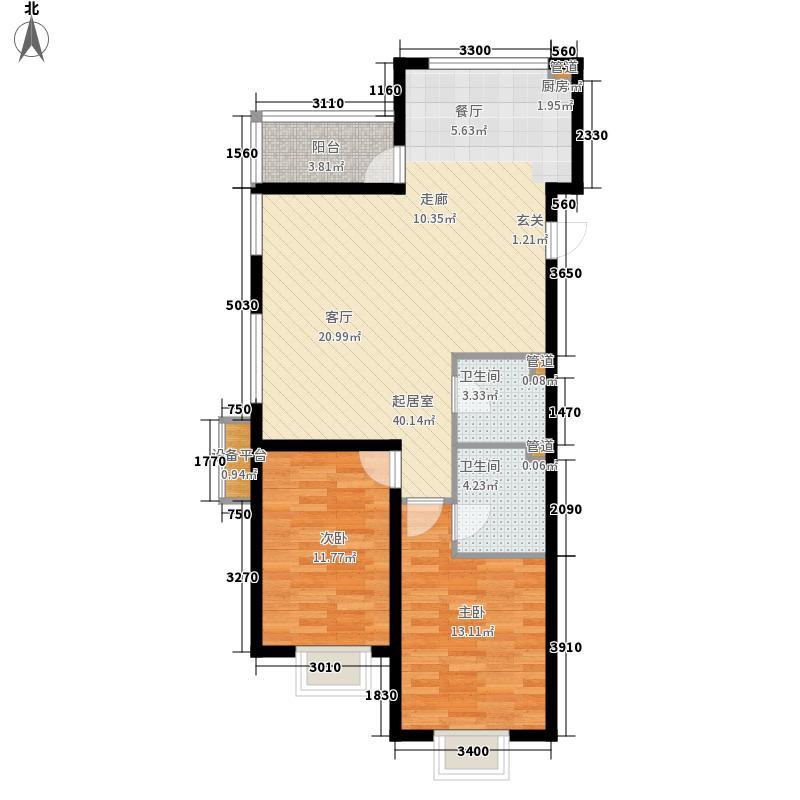五矿万泉公元108.60㎡五矿万泉公元户型图2-A2室2厅2卫户型2室2厅2卫