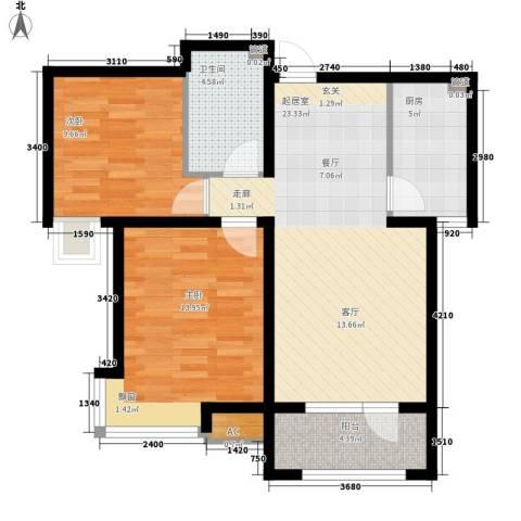东城名郡2室0厅1卫1厨71.23㎡户型图