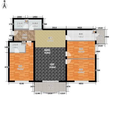 怡清园3室0厅2卫1厨143.00㎡户型图