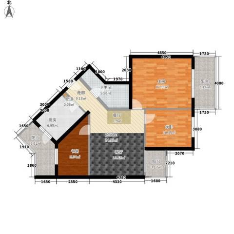 怡清园3室0厅1卫1厨102.00㎡户型图