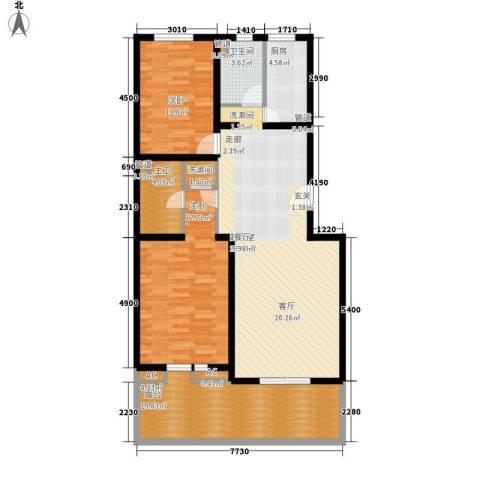 热电二区2室0厅1卫1厨135.00㎡户型图
