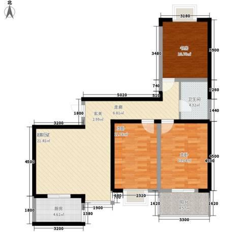 龙祥御湖3室0厅1卫1厨114.00㎡户型图