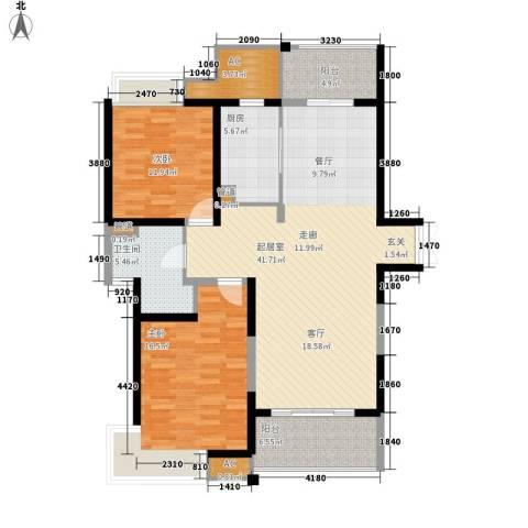 路劲翡丽湾2室0厅1卫1厨111.00㎡户型图