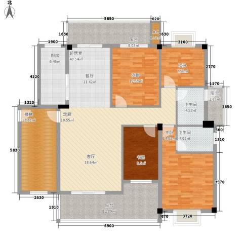 尊德天城4室0厅2卫1厨136.46㎡户型图