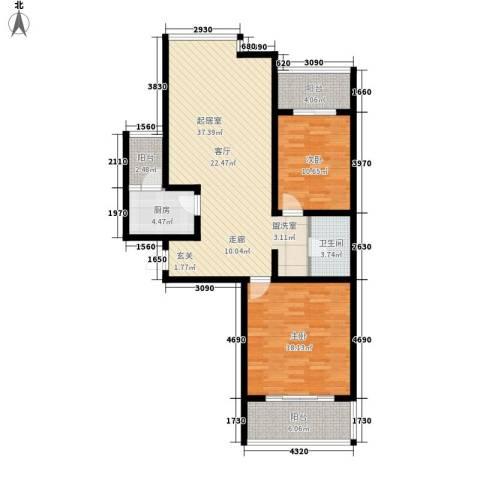 都市e线2室0厅1卫1厨98.00㎡户型图