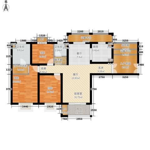 宝带花苑3室0厅2卫1厨115.00㎡户型图