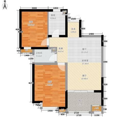 吟春园2室0厅1卫1厨99.00㎡户型图