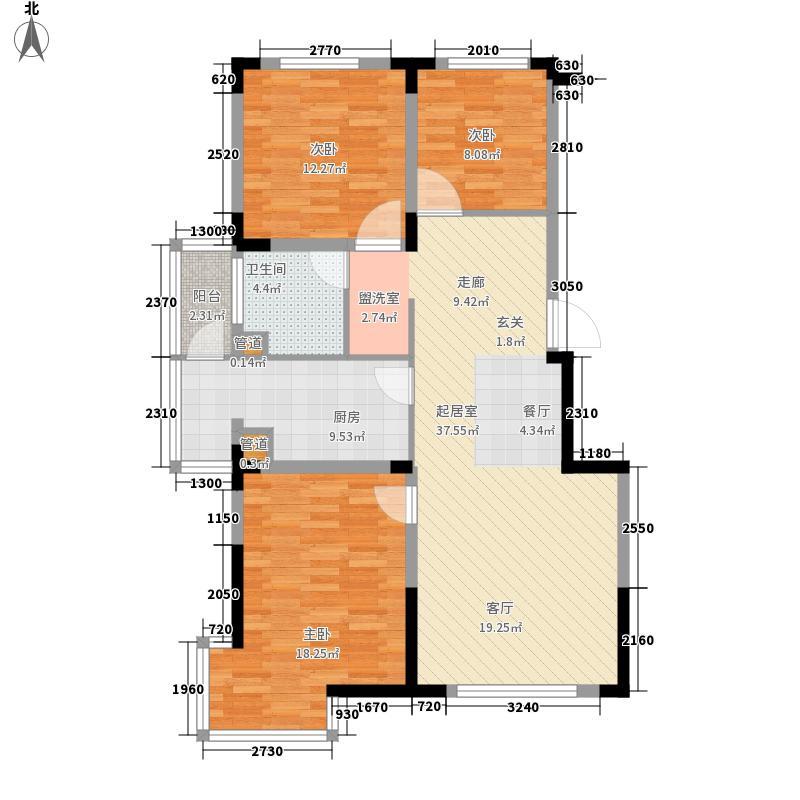 清河湾104.86㎡清河湾户型图H户型3室2厅1卫1厨户型3室2厅1卫1厨