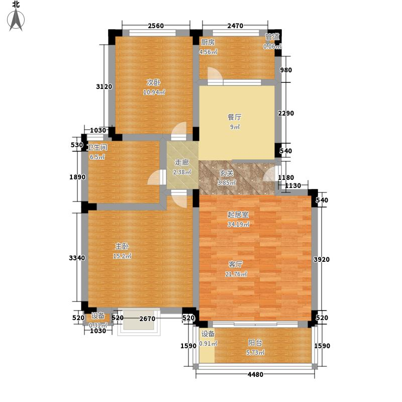 长江花园115.00㎡长江花园3室户型3室