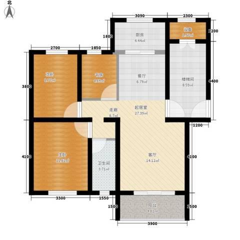 华银城3室0厅1卫1厨112.00㎡户型图