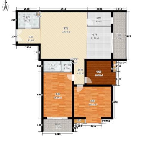 嘉禾公馆3室0厅3卫1厨150.00㎡户型图