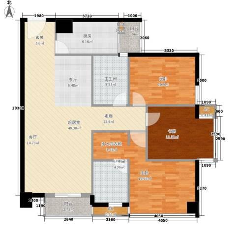 信诺新村3室0厅2卫1厨112.00㎡户型图
