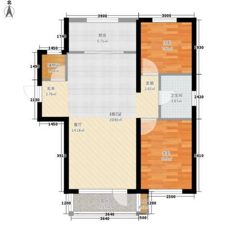 美辰香醒2室0厅1卫1厨98.00㎡户型图