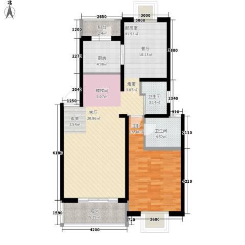 BOBO自由城一期1室0厅2卫1厨111.00㎡户型图