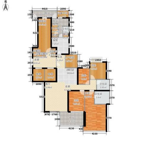 誉峰4室0厅3卫1厨181.00㎡户型图