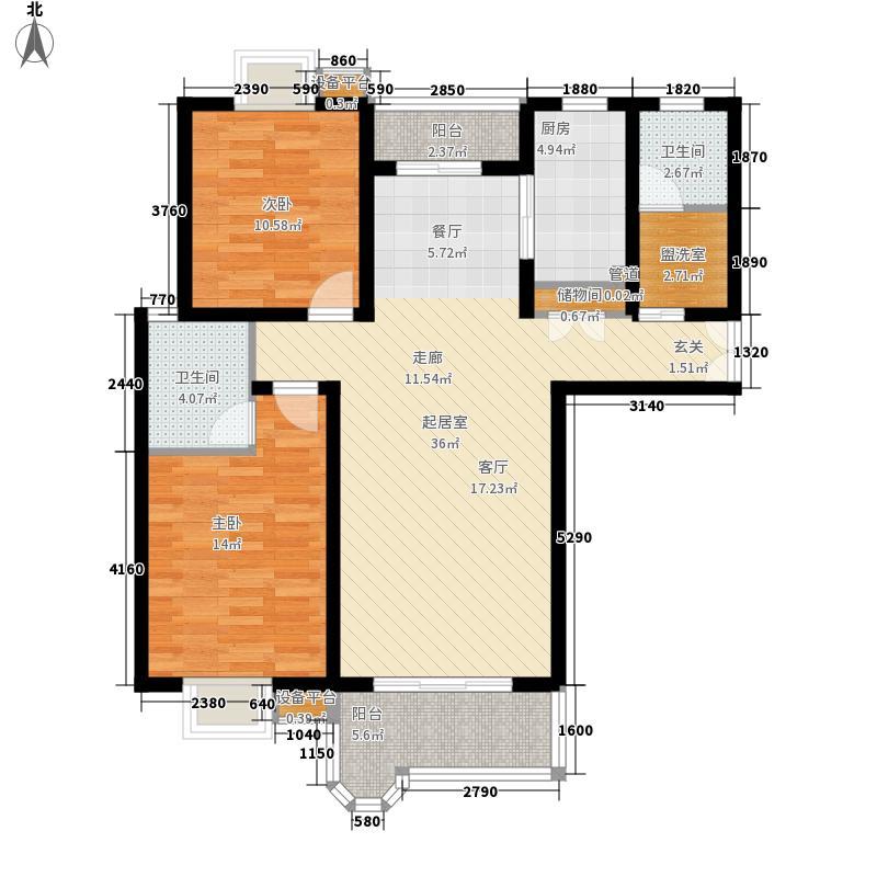 三湘花园 2室 户型图