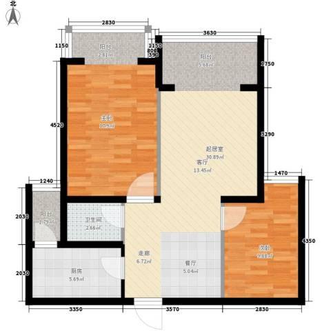 都市e线2室0厅1卫1厨78.00㎡户型图
