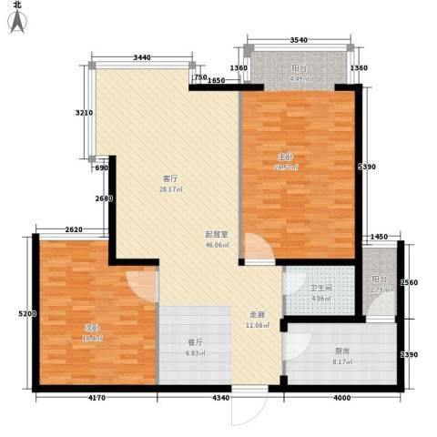 都市e线2室0厅1卫1厨118.00㎡户型图