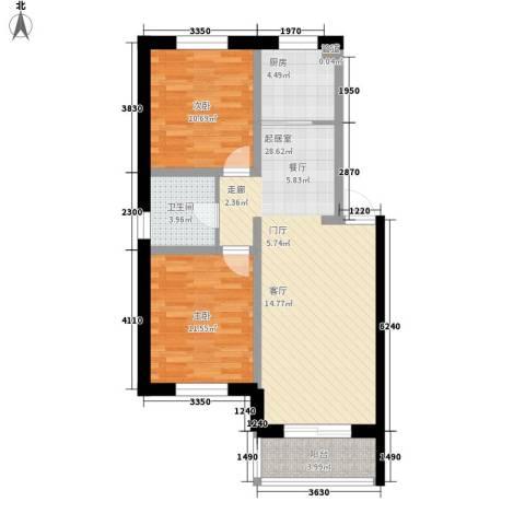 帝景豪庭2室0厅1卫1厨94.00㎡户型图
