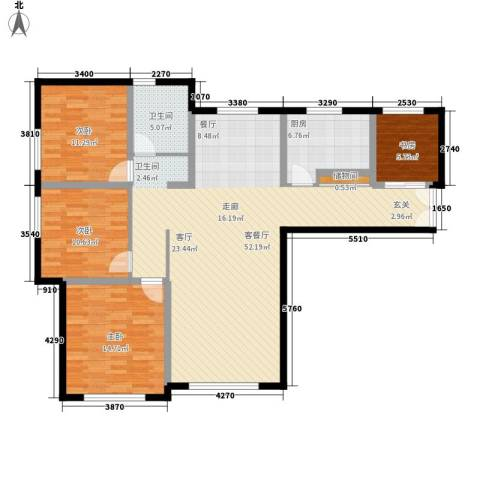 三园新城佳苑4室1厅1卫1厨106.90㎡户型图