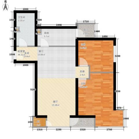 和平里de小镇2室0厅1卫1厨98.00㎡户型图