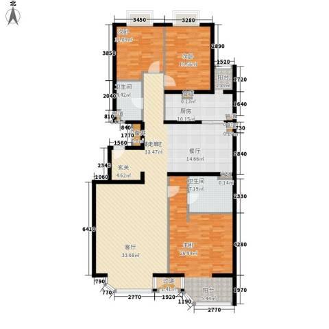 山水LAVIE3室0厅2卫1厨155.00㎡户型图