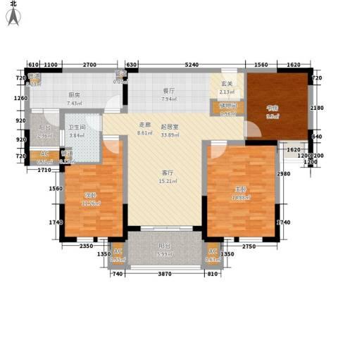 华润置地橡树湾3室0厅1卫1厨109.00㎡户型图