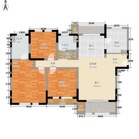 华润置地橡树湾3室0厅2卫1厨140.00㎡户型图