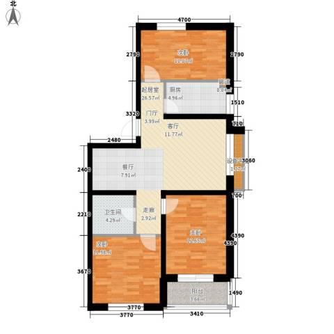 帝景豪庭3室0厅1卫1厨113.00㎡户型图