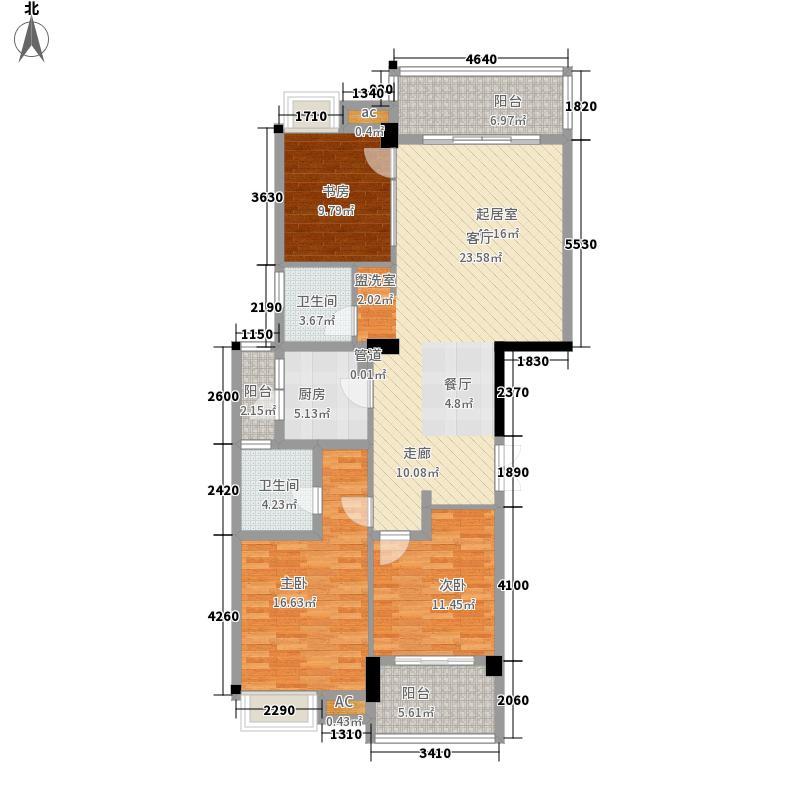 格林兰锦121.85㎡格林兰锦户型图3室2厅2卫1厨户型10室