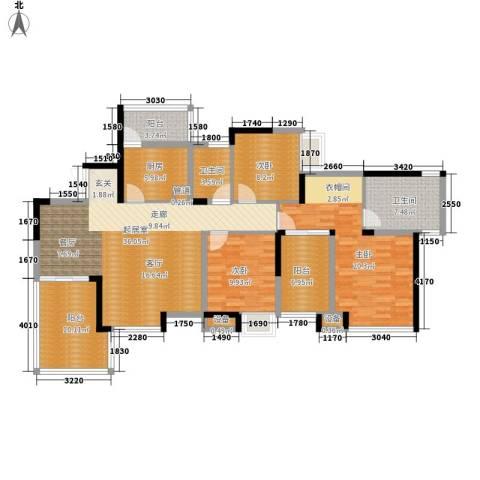 劲力五星城3室0厅2卫1厨163.00㎡户型图