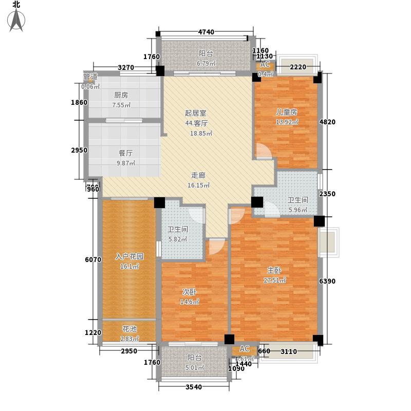 格林兰锦168.80㎡格林兰锦户型图3室2厅2卫1厨户型10室