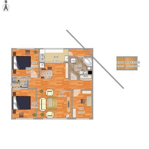 芙蓉花园3室1厅1卫1厨97.00㎡户型图