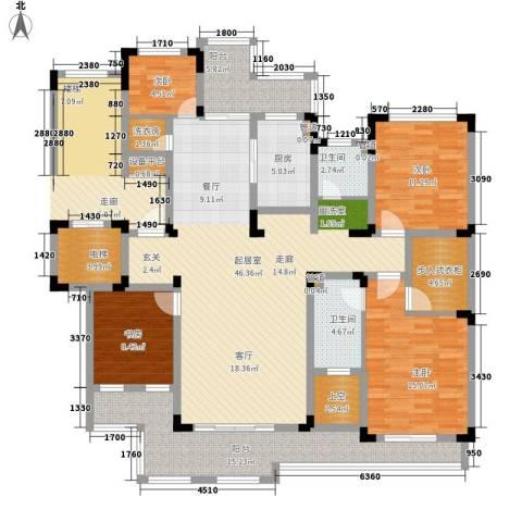 力旺塞歌维亚4室0厅2卫1厨195.00㎡户型图