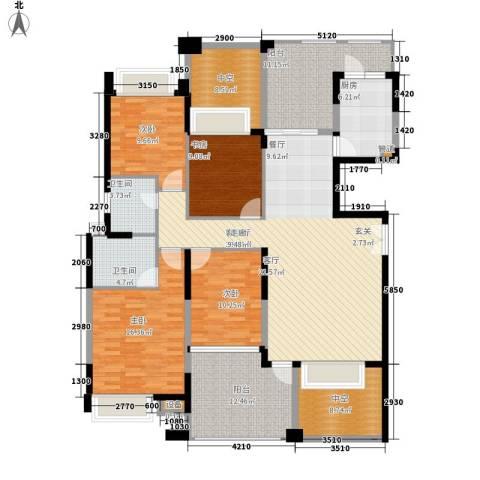 三箭吉祥苑4室1厅2卫1厨215.00㎡户型图