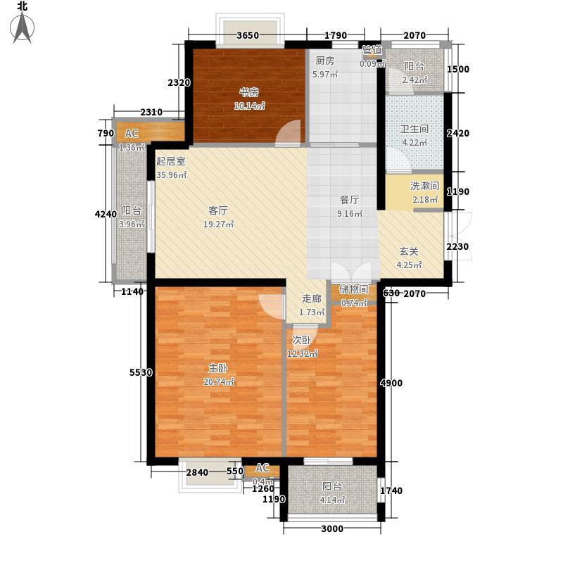 海棠花园116.00㎡海棠花园3室户型3室