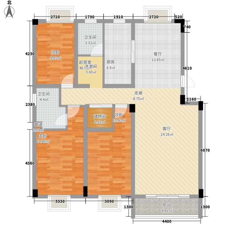 海棠花园123.00㎡海棠花园3室户型3室